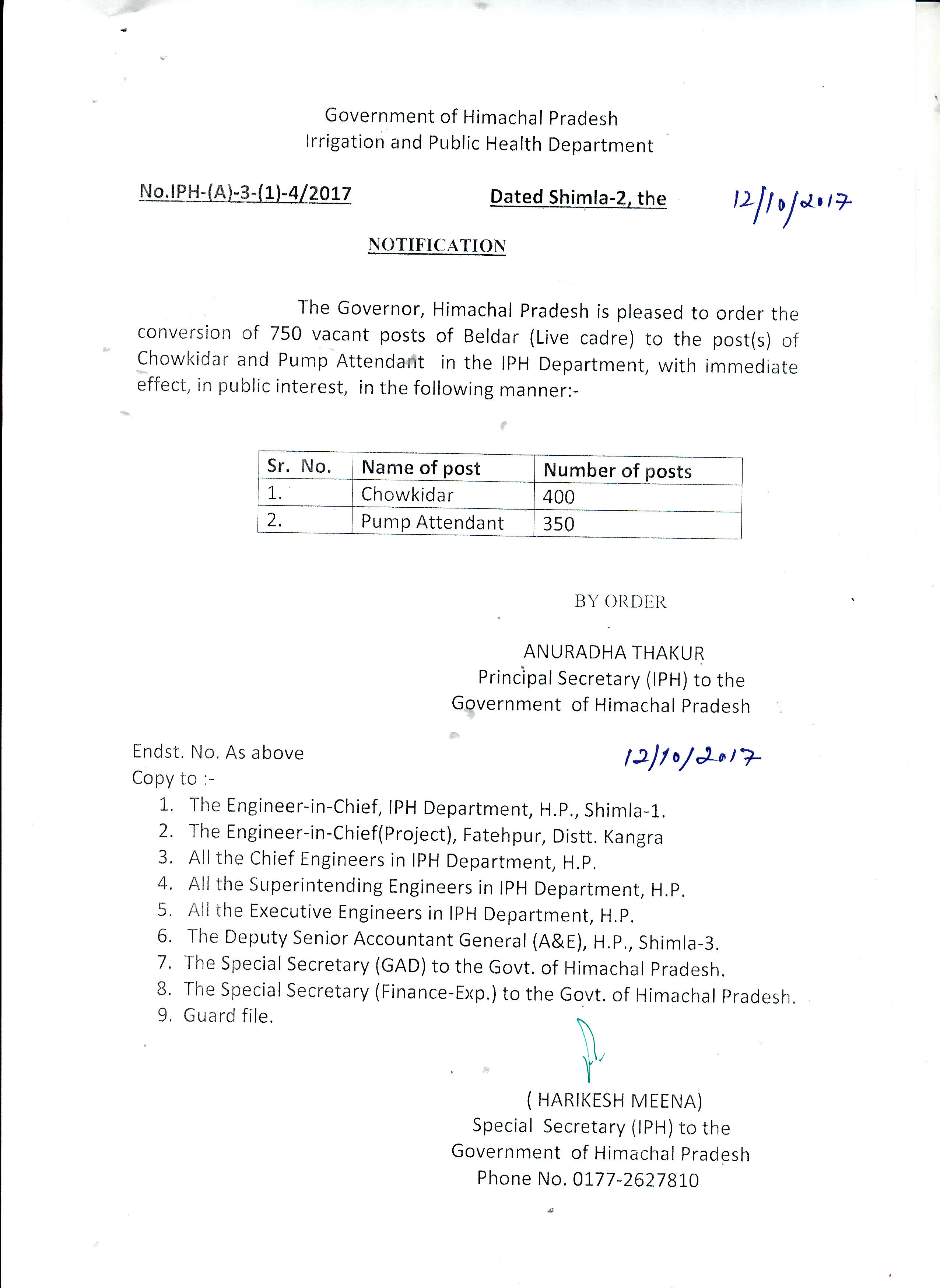 electricity notification 2018
